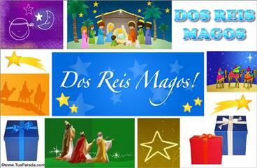 Cartão de Reis Magos