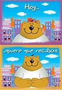 Tarjeta Abrazo. Comic 114A