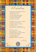 Tarjetón Poema: El idealista