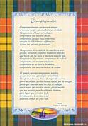 Tarjetón Poema: Compromiso