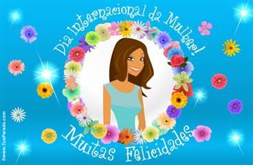 Cartão de Dia da Mulher