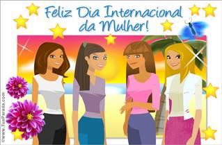 Cartão de Dia Internacional da Mulher