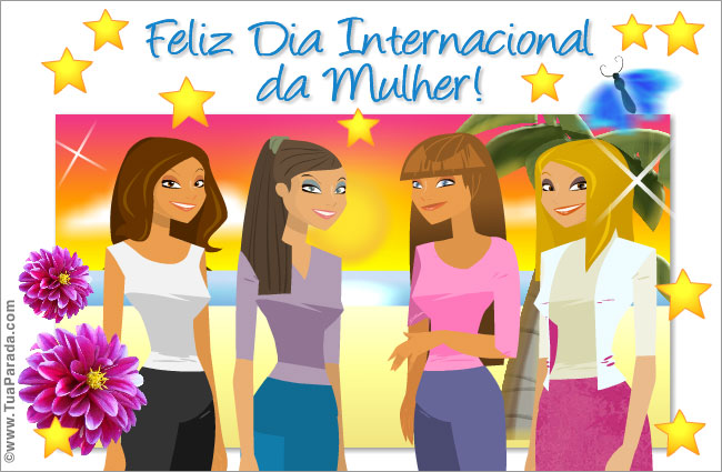 Cartão - Cartão de Dia Internacional da Mulher