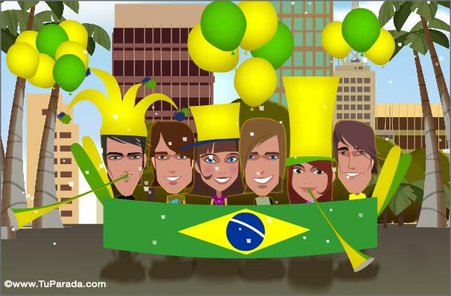 Cartão - Cartão de Brasil