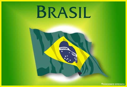 Cartão - Bandeira de Brasil