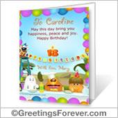 Printable card: Happy Birthday - For Desktop