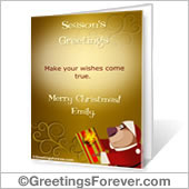 Printable card: Season's Greetings - For Desktop