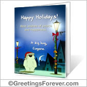 Printable card: Happy Holidays! - For Desktop