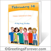 Printable card: Happy Valentine´s Day!