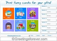 Printable cards for birthdays - For Desktop