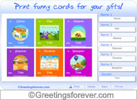 Friendship cards to print - For desktop