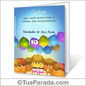 Cartão para imprimir: Aniversário