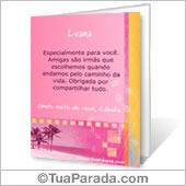 Cartão para imprimir: Amizade