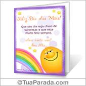 Cartão para imprimir: Feliz Dia das Mães!