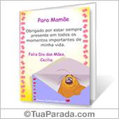 Cartão para imprimir: Para Mamãe