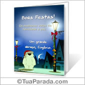 Cartão para imprimir: Boas Festas - Para Desktop
