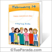 Cartão para imprimir: São Valentim