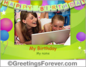 Ecards: Happy Birthday card