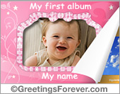 Ecards: My first album for baby girl