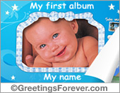 Ecards: My first album for baby boy