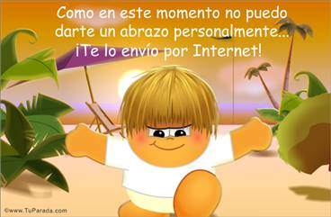 Un abrazo a través de Internet