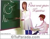 Tarjeta para maestras
