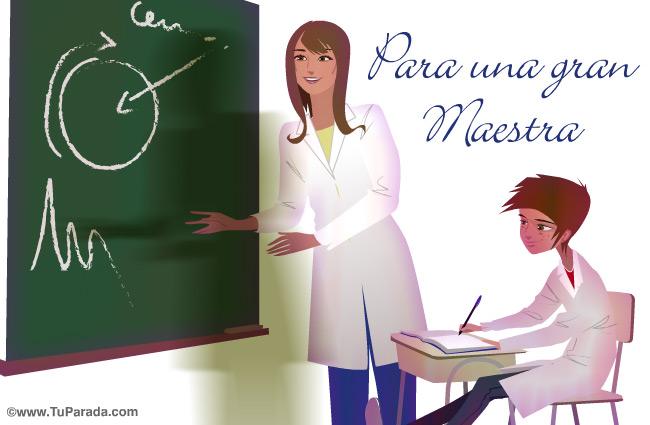 Tarjeta - Tarjeta para maestras