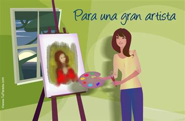 Tarjeta para una artista