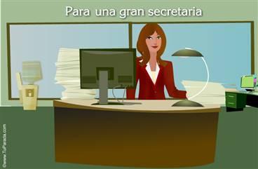 Para una gran secretaria