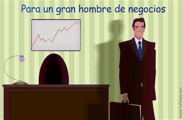 Tarjeta para un hombre de negocios