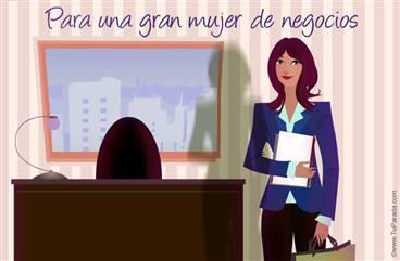 Para una mujer de negocios