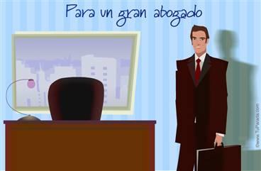 Tarjeta para un gran abogado