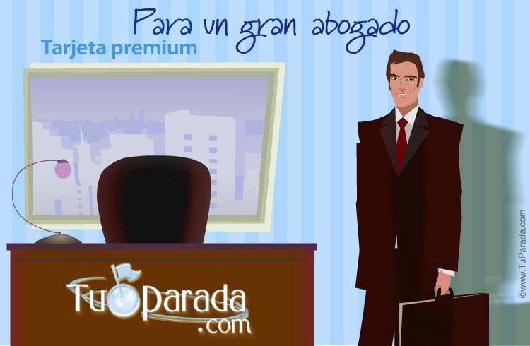 Tarjeta - Tarjeta para un gran abogado