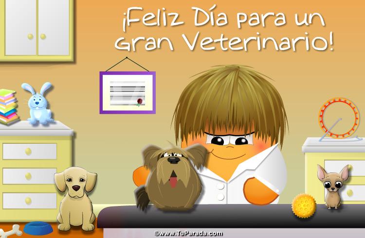 Tarjeta Para Veterinarios Feliz Dia Del Veterinario Postal Para