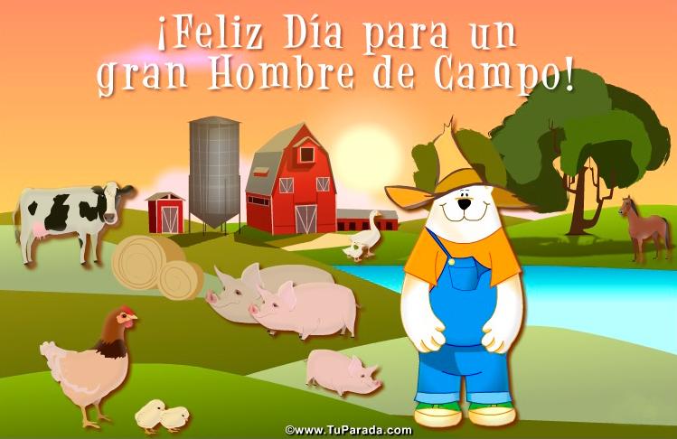 Tarjeta para un hombre de campo feliz d a del agr nomo - Solicitar tarjeta club dia ...