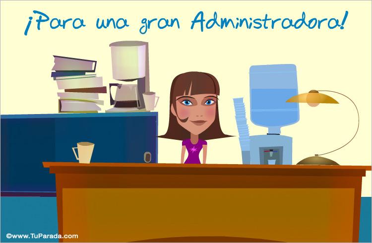 Tarjeta - Para una gran administradora