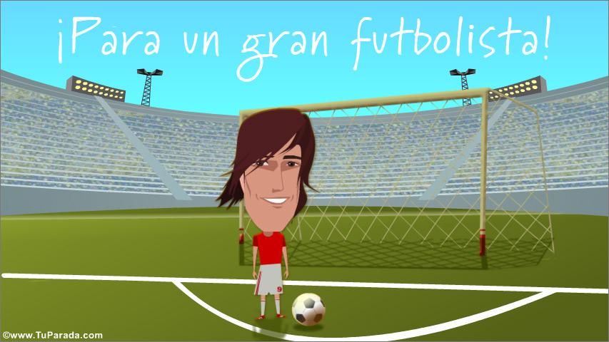 Tarjeta - Tarjeta para un gran futbolista