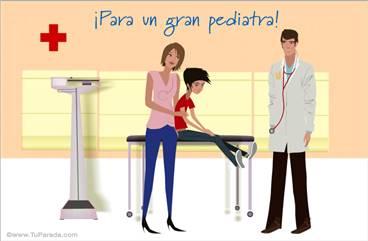 Tarjeta para un gran pediatra
