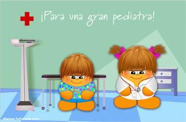 Tarjeta para una gran pediatra