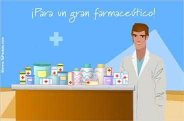 Tarjeta para un gran farmaceútico