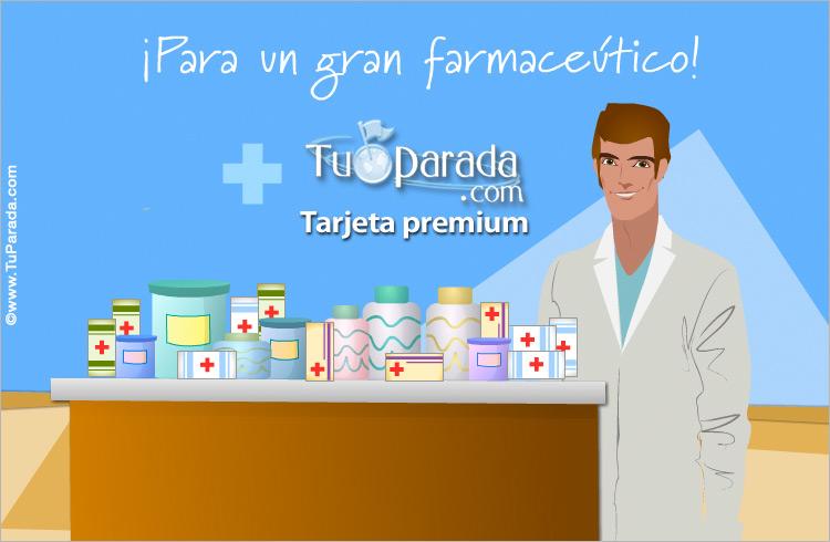 Tarjeta - Tarjeta para un gran farmaceútico