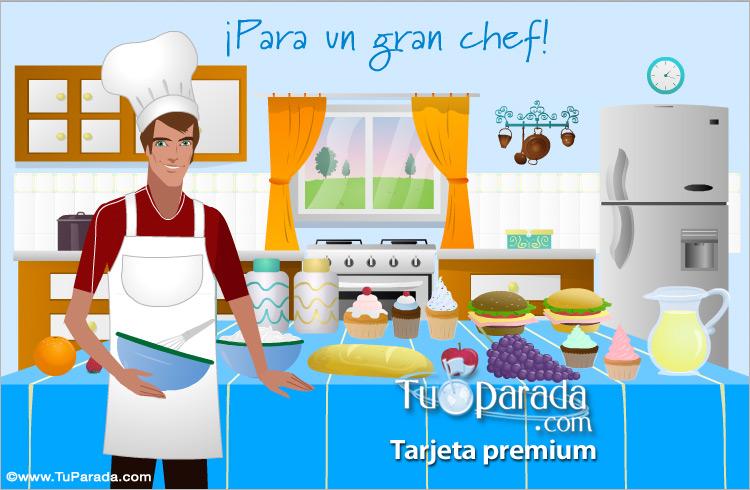 Tarjeta - Para un gran chef