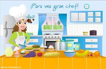 Tarjeta para una gran chef