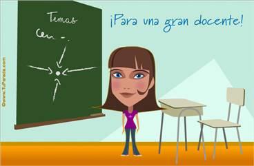 Tarjeta para una docente