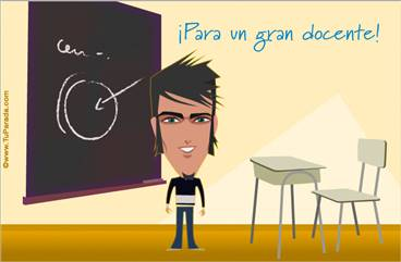 Tarjeta para un docente