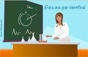 Tarjeta para una científica