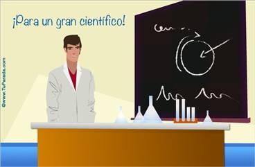 Tarjeta para un científico