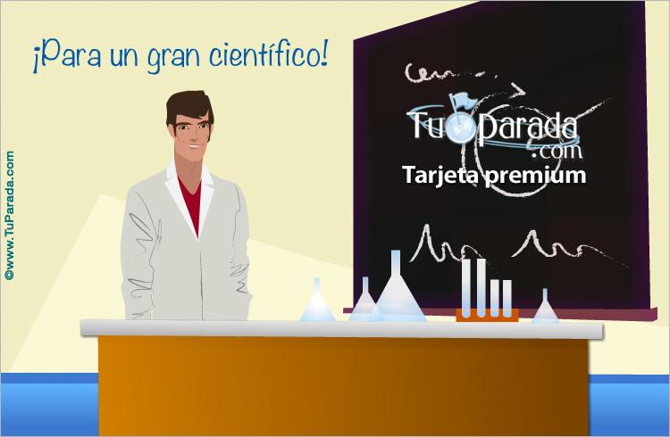 Tarjeta - Tarjeta para un científico
