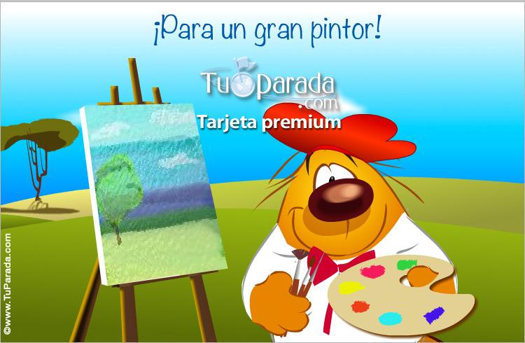 Tarjeta - Para un gran pintor