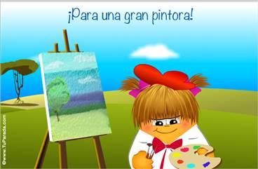 Tarjeta para una pintora